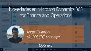 Novedades de Microsoft Dynamics 365 for Finance and Operations