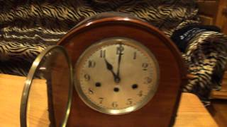 Junghans Westminster Chime Wooden Mantel Clock.