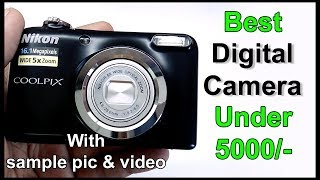 Nikon A10 point amp shoot camera unboxing with sample picture
