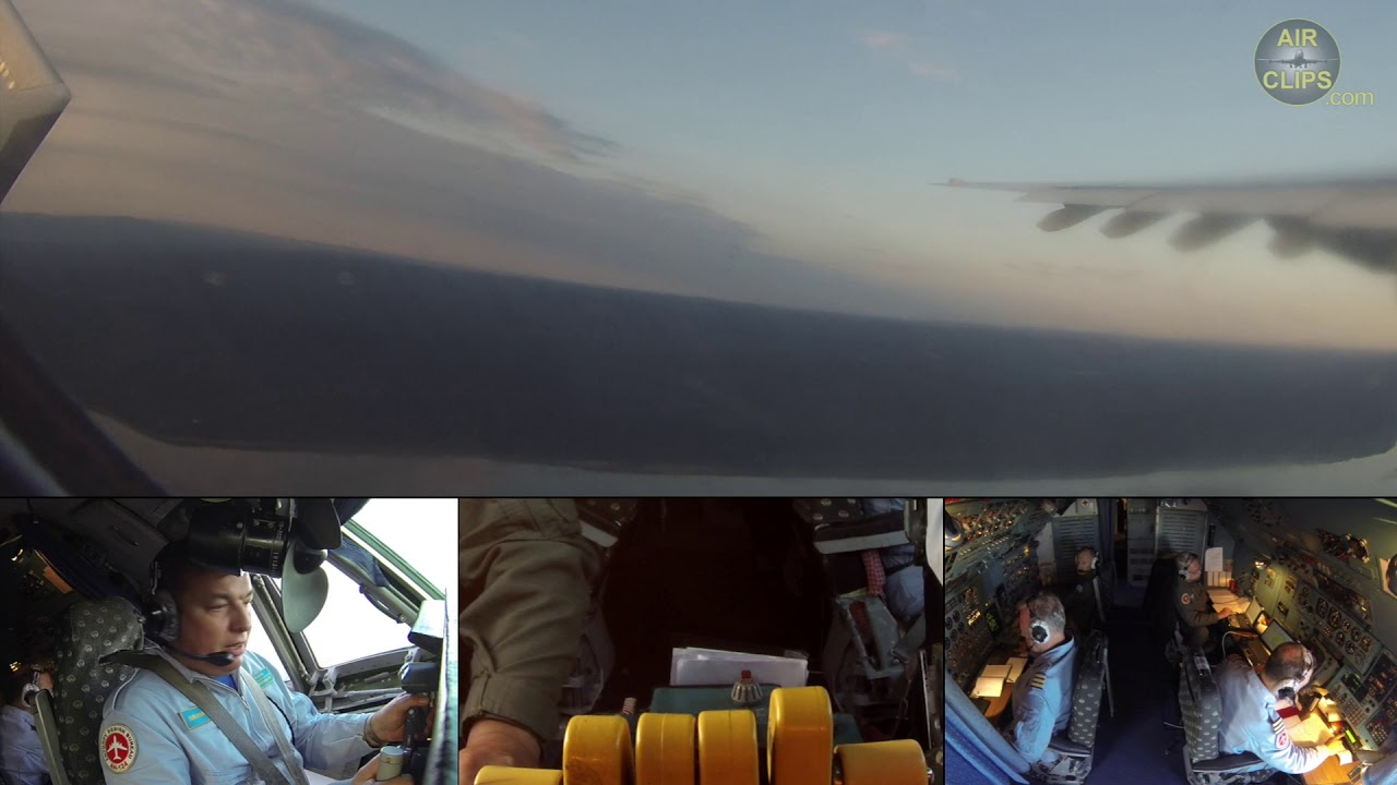 Fantastic Split Screen! Captain Antonov's Crew of 6: An-225 Takeoff from Goose Bay! [AirClips]