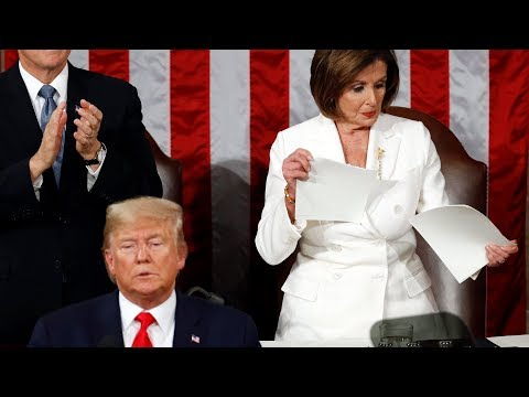 video: Watch: Nancy Pelosi rips up Donald Trump's State of the Union speech