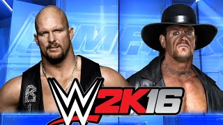 WWE 2K16 - Stone Cold VS Undertaker