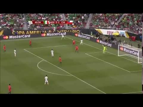 Chile highpress and goal against Mexico