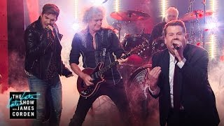 Download Front Man Battle w/ Queen + Adam Lambert Mp3 and Videos