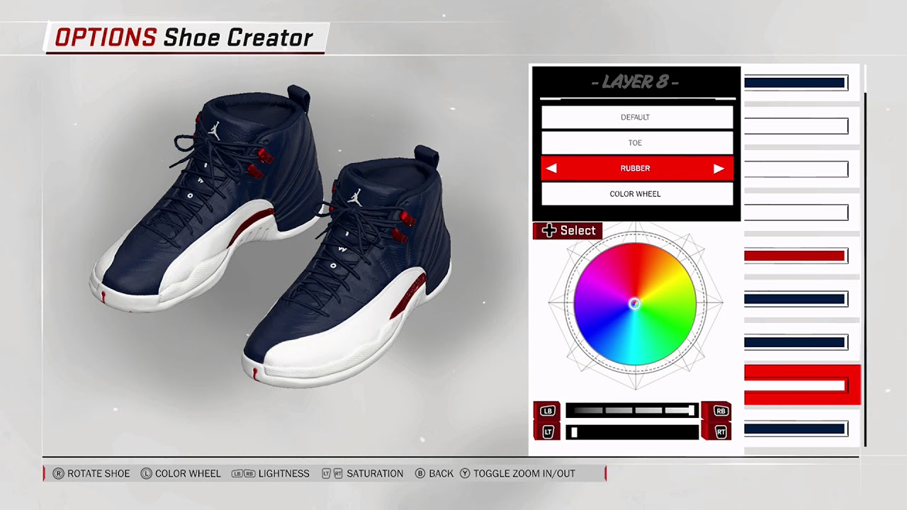 NBA 2K18 Shoe Creator - Air Jordan 12