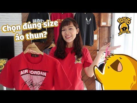 Cách Chọn Đúng Size Áo Thun Vừa Vặn   Thử Bộ Size Áo Potato Clothing