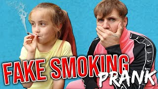 FAKE SMOKING PRANK!!!!