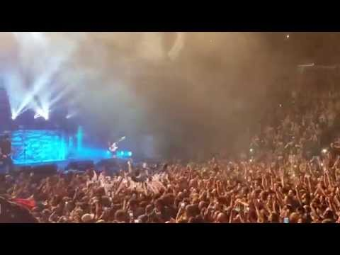 Volbeat - Michael Poulsen Crowd Surfing - Chesapeake Energy Arena in Oklahoma City (10/18/14)