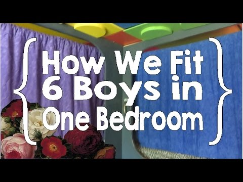 Boys' Room - How We Fit 6 Boys in One Bedroom (Large Family, Small House Organization pt. 9)