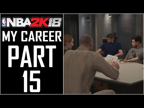 """NBA 2K18 - My Career - Let's Play - Part 15 - """"Meeting With Under Armour, Juug Dropping Bars"""""""