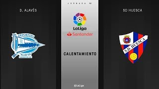 Calentamiento D. Alavés vs SD Huesca