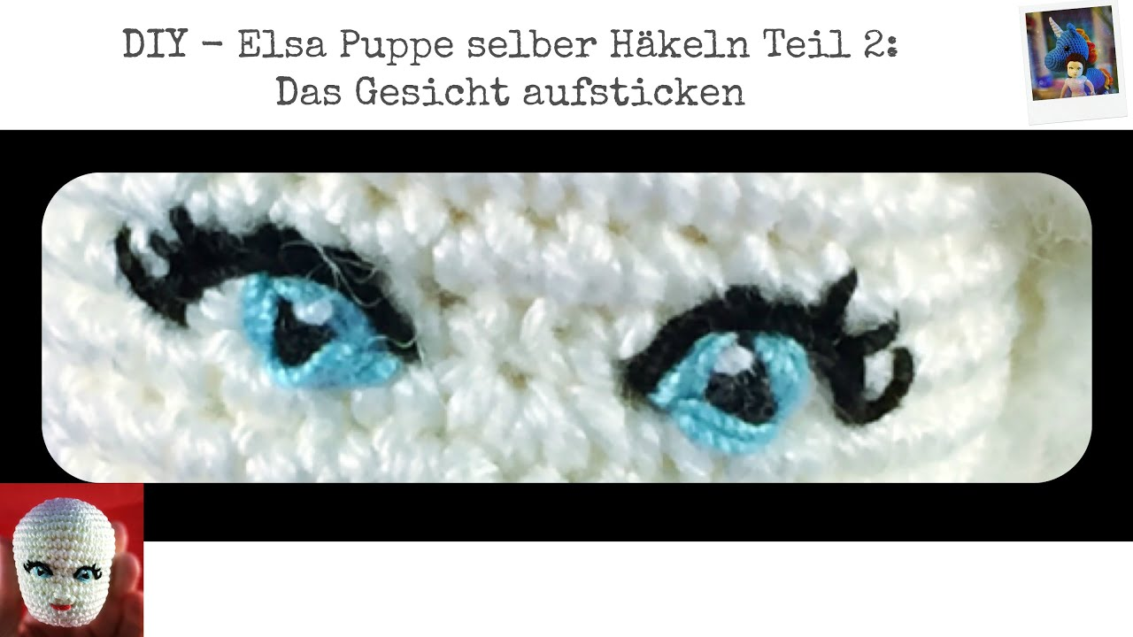 How To Crochet A Doll Part 2: Embroider Eyes And Face
