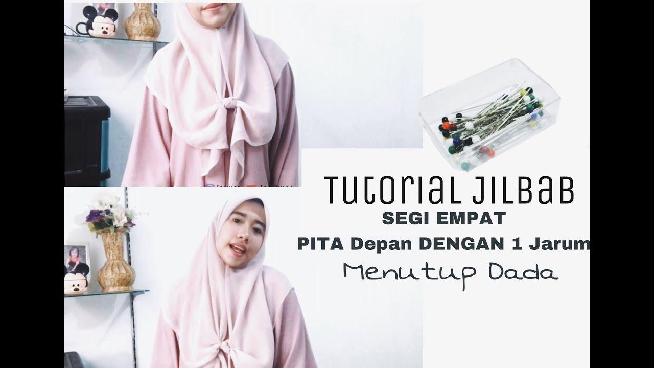 Tutorial Hijab Simple Segi Empat Pita Depan Menutup Dada Youtube Jilbab