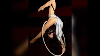 Aerial hoop western female performance in Hong Kong