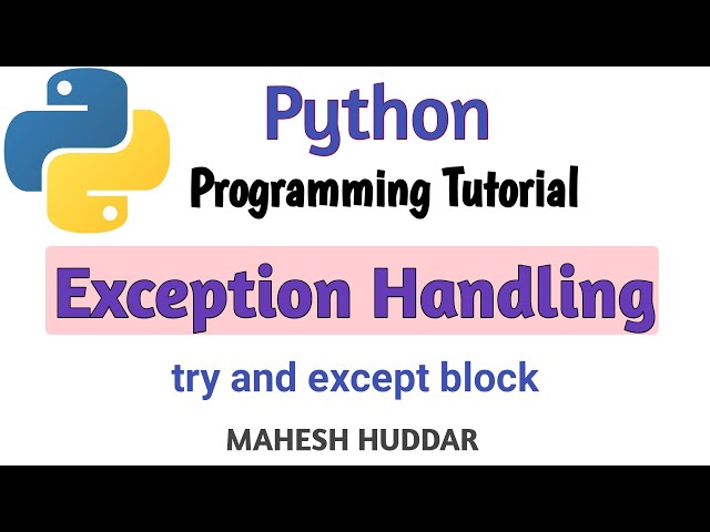 How to use try and except block and use short circuit evaluation by Mahesh Huddar