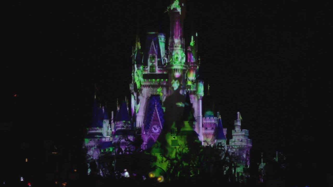 celebrate the magic villains castle show 2016 mickeys not so scary halloween party disney world - Violet Castle 2016