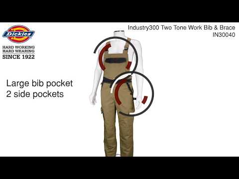 Industry300 Two Tone Work Bib And Brace   IN30040
