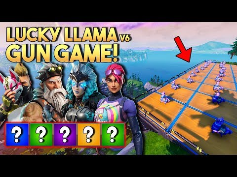 LUCKY LLAMA GUN GAME v6! - Fortnite Creative met Don, Eva & Jacco (Nederlands)