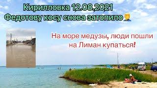 Кирилловка 12.08.2021Федотка снова под водой🤿Очень много сдаётся жильяМёдузы естьлюди на лимане