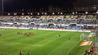 Supporters Mallorca zaragoza Romareda 2013