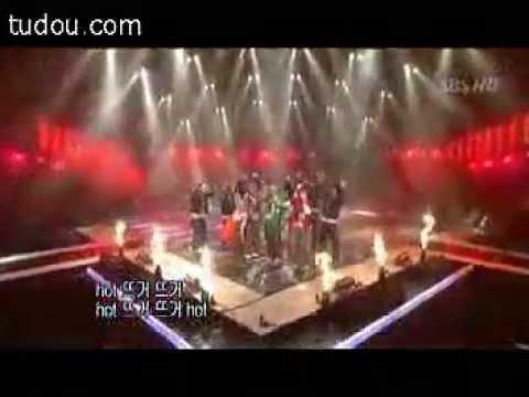 1TYM - Hot 뜨거 [040125 Inkigayo]  (Danny injured)