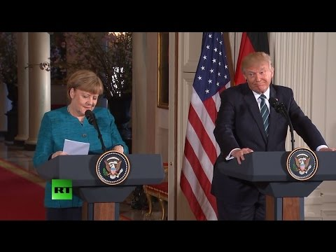 Thumbnail: 'We have something in common' - Trump jokes about Obama wiretaps with Merkel