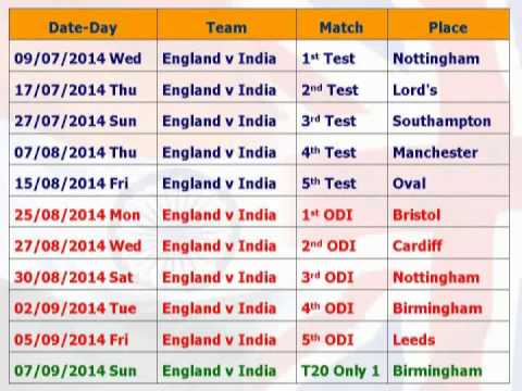 india england test match time table