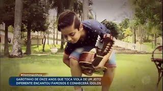 Garoto que dá show na viola vai ganhar presente do Sérgio Reis