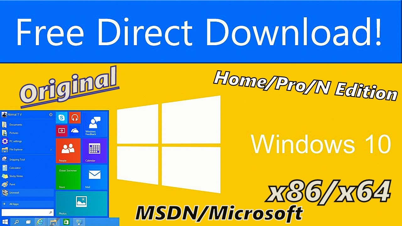 How To Download Original Windows 10 x86/x64 Any Edition ISO File From  Microsoft/MSDN HD