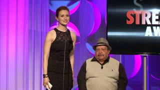 Ashley Clements and Chuy Bravo Present Best Ensemble Cast - Streamy Awards 2014
