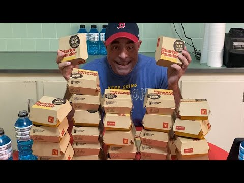 30 Quarter Pounder Burger With Cheese McDonald's Challenge 30 In 30 Series #1