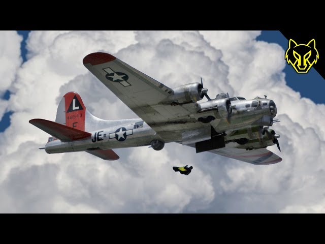Wingsuits Out the Bomb Bay Doors of a B-17