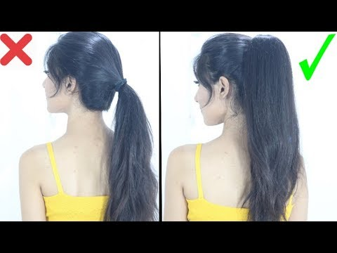 New High Ponytail Hairstyle For School College Work Long Ponytail Youtube