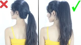 Download lagu New High Ponytail Hairstyle For School College Work Long Ponytail MP3