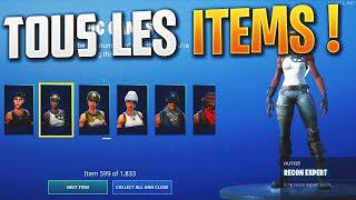 How to have ALL ITEMS on Fortnite / All SKINS, EMOTES, SAC A DOS, PIOCHES on Fortnite
