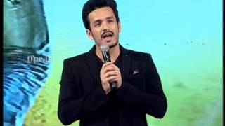 akhil speech at his debut grand launch