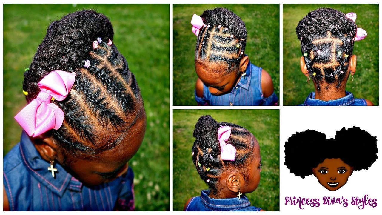 Easy Cute Little Updo Childrens Natural Hair Care Youtube