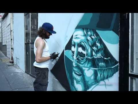 """""""Weird"""" Graffiti art for the """"KM8"""" Gallery, Belgrade"""