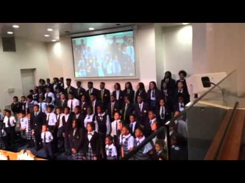 "Dupont Park Adventist School Singing ""Great Getting up Morning"""