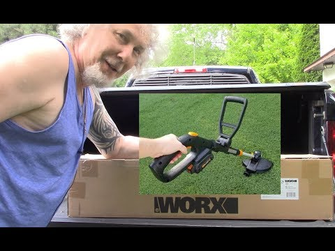 Worx GT Revolution Trimmer Edger Mower Un Boxing Set Up