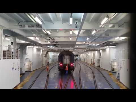 Unloading Railcars from a Train Ferry