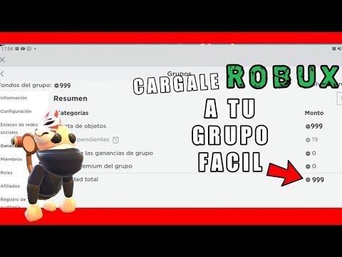Como Ponerle Robux A Tu Grupo De Roblox 2020 Facil Android Y Pc
