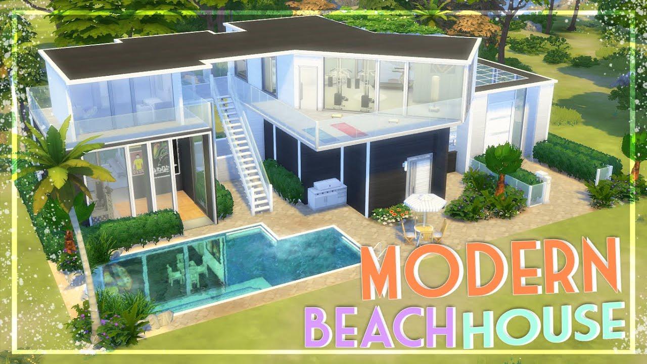 The Sims 4 Speed Build Modern Beach House Youtube