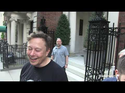 Elon Musk talks about hosting SNL, Dogecoin, and more on the streets of NYC