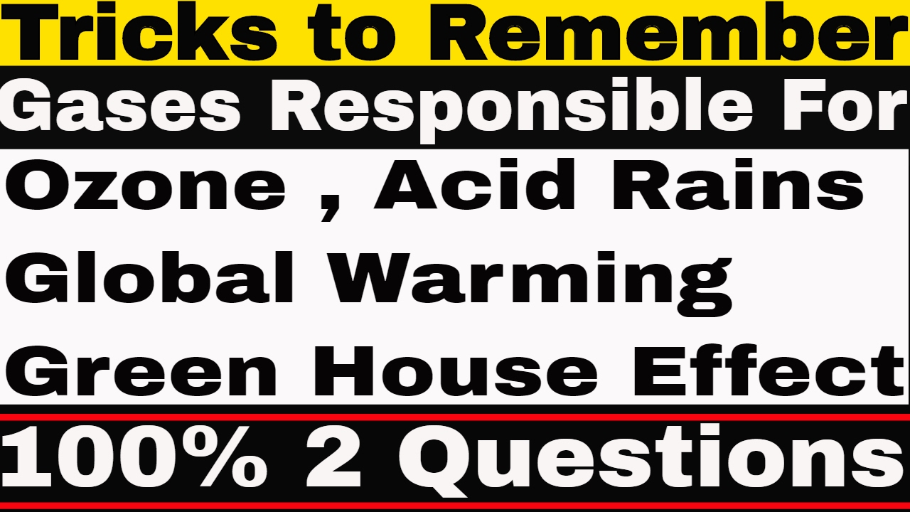 Tricks to remember gases responsible for ozone global warming tricks to remember gases responsible for ozone global warming acid rains green house effect gamestrikefo Images