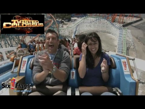 Twisted Colossus Reverse POV HD Six Flags Magic Mountain Roller Coaster Rocky Mountain Construction