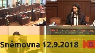 Sněmovna 12.9.2018 - daně, EET