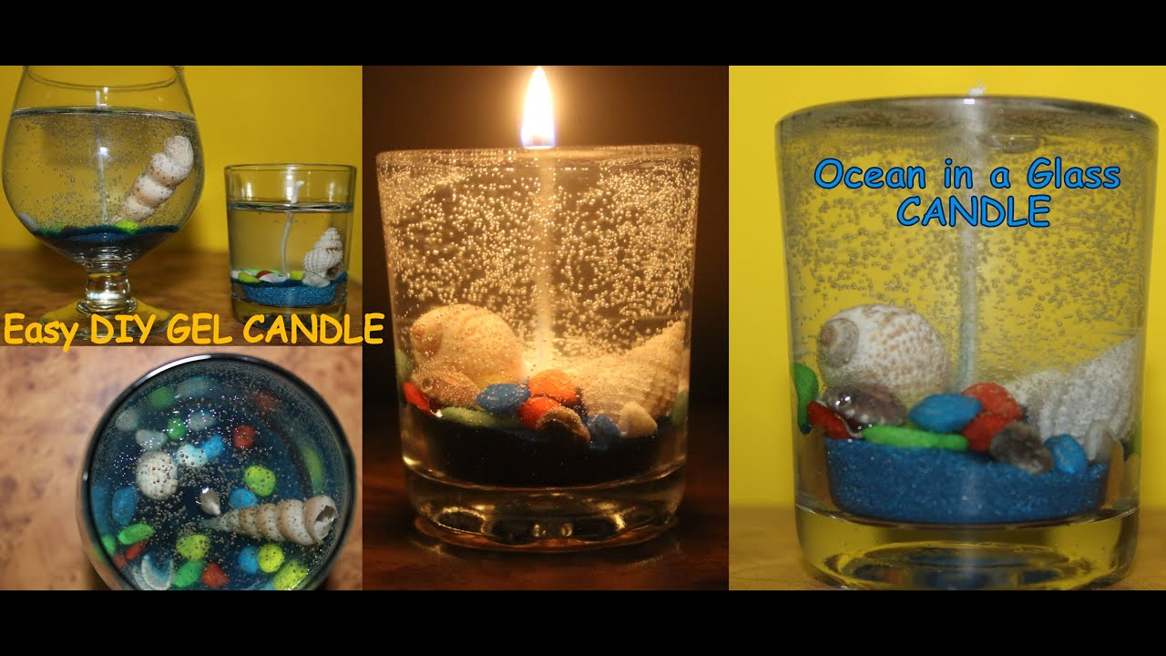 How to make a Gel Candle | Ocean Gel Candle | Gel Candle Making | Easy DIY  Candle