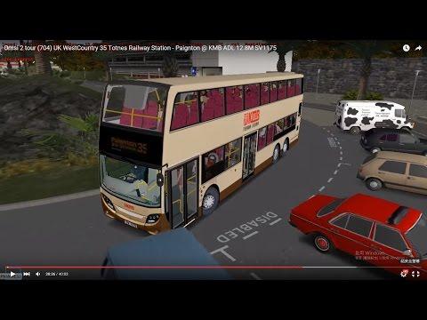 Omsi 2 tour (704) UK WestCountry 35 Totnes Railway Station - Paignton @ KMB ADL 12.8M SV1175