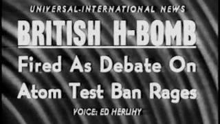 British Hydrogen Bomb Explosion (1957)